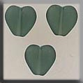 12277 - Channeled Heart Matte Tourmaline 8mm - 3 per pkg